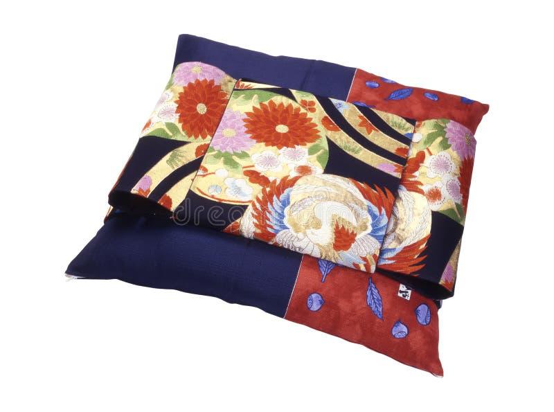 японское усаживание подушки стоковое фото