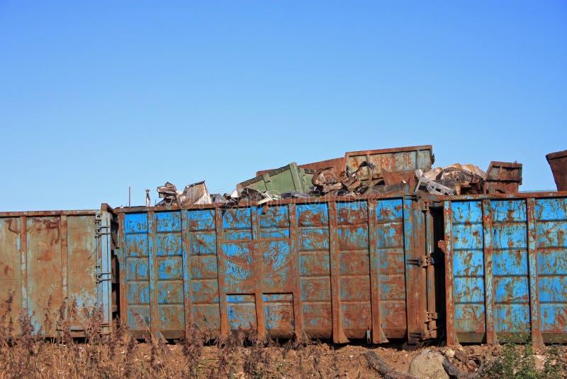 Ярд металлолома стоковое фото rf