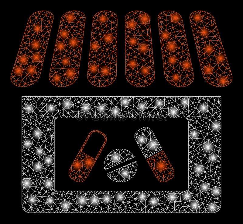 Яркая аптека туши сетки со светлыми пятнами бесплатная иллюстрация