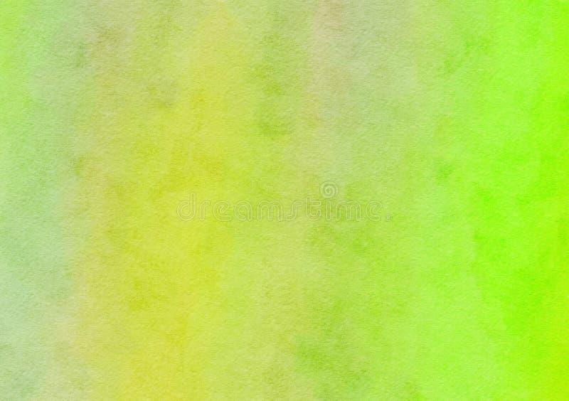 Яркая ая-зелен смешанная текстура бумаги предпосылки акварели стоковое фото rf