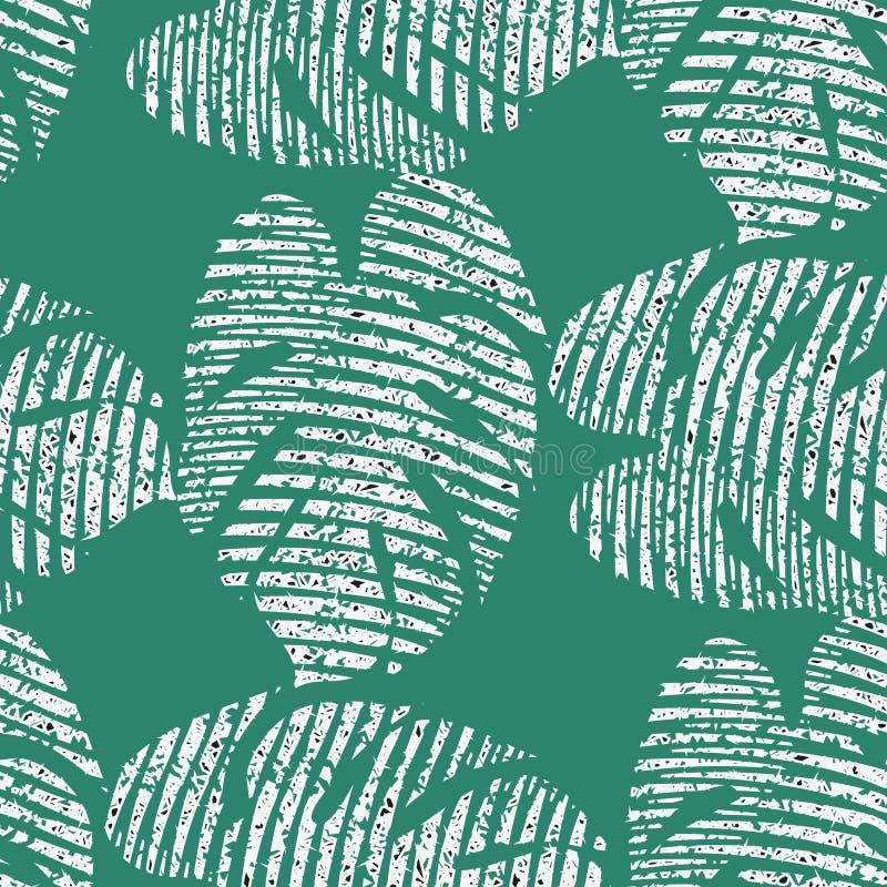 Яркая безшовная картина вектора с тропическими листьями бесплатная иллюстрация