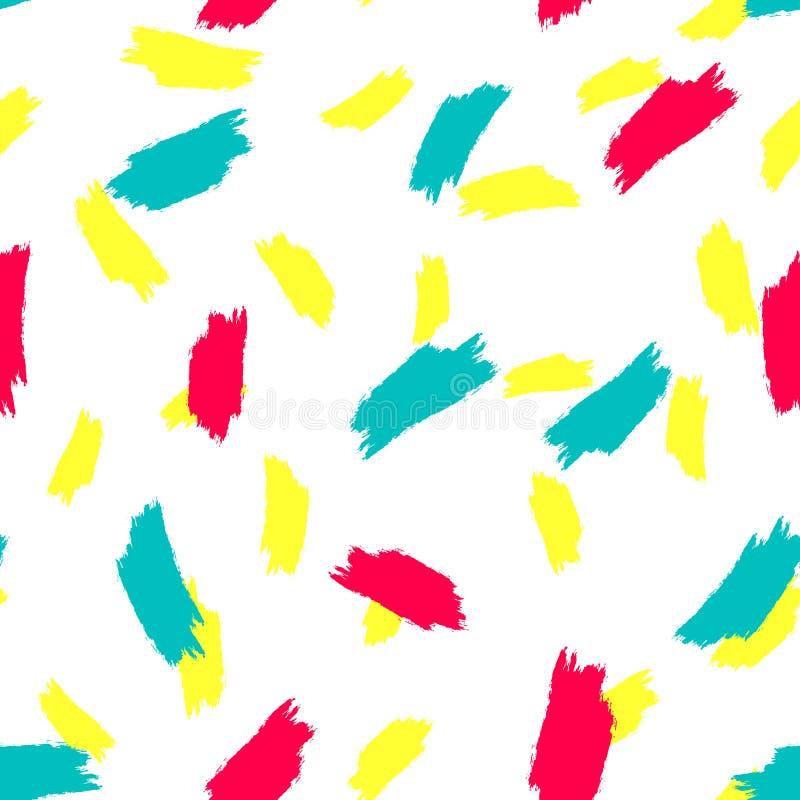 Яркая безшовная картина с ходами щетки watercolour r бесплатная иллюстрация