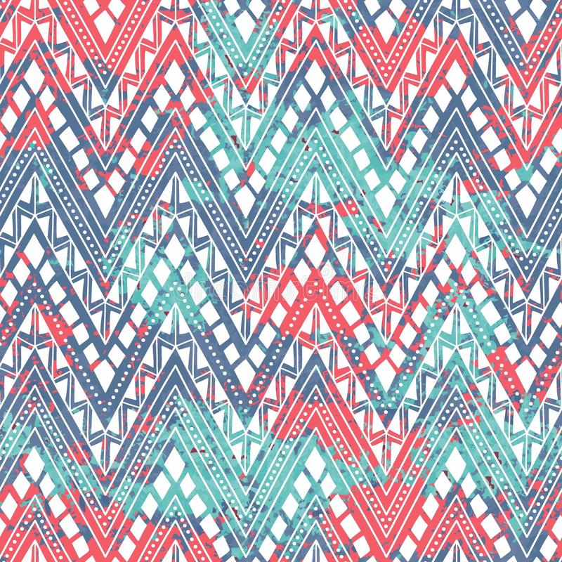 Яркая безшовная картина Этнические и племенные мотивы Текстура bl иллюстрация вектора