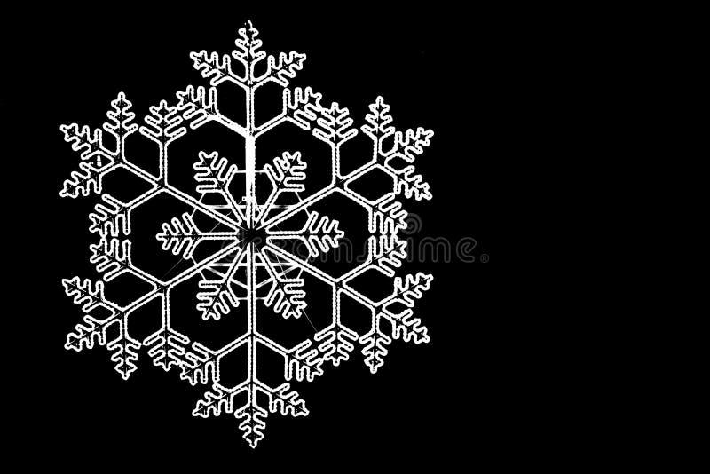 Яркая белая снежинка стоковая фотография rf