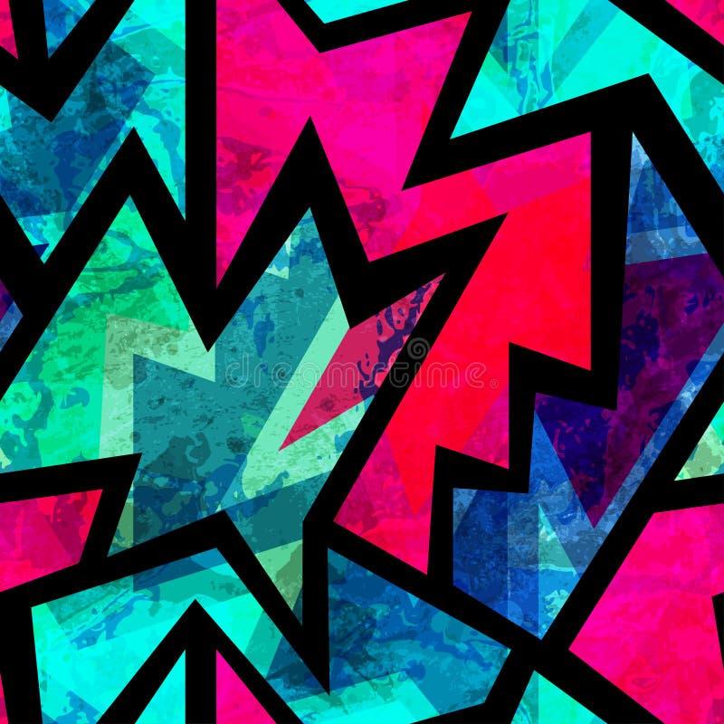 Яркая винтажная геометрическая безшовная картина бесплатная иллюстрация