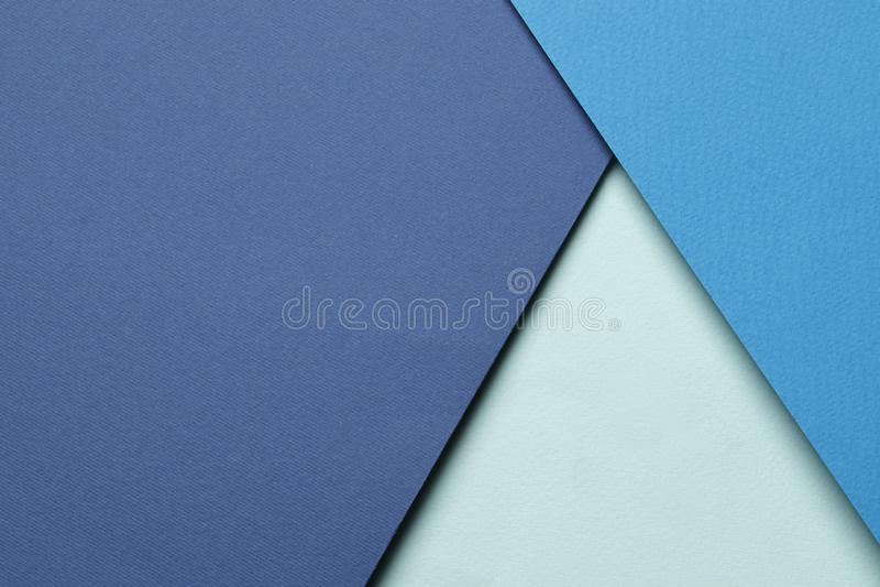 Яркая голубая абстрактная предпосылка чистого листа бумаги стоковые изображения rf
