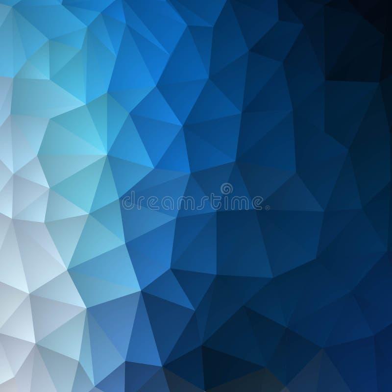 Яркая голубая триангулярная предпосылка Вектор дела представления Template eps 10 - Vektorgrafik бесплатная иллюстрация