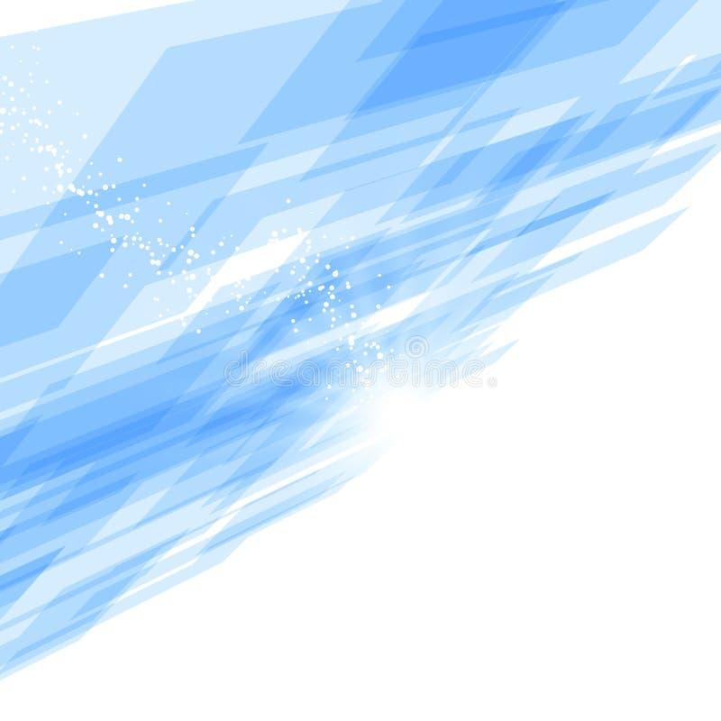 Яркая голубая предпосылка движения перспективы плитки иллюстрация штока