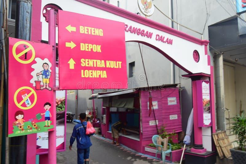 Яркая деревня газа в городе Semarang стоковое фото rf