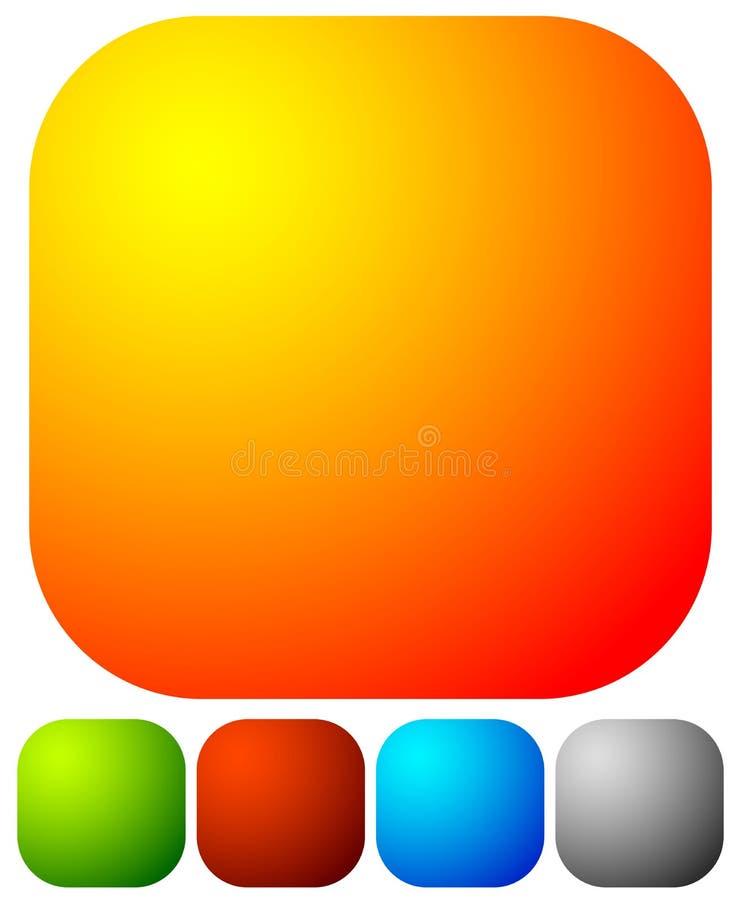 Download Яркая, живая кнопка, элементы дизайна значка с пустым пространством Иллюстрация вектора - иллюстрации насчитывающей backhoe, цветы: 81804393