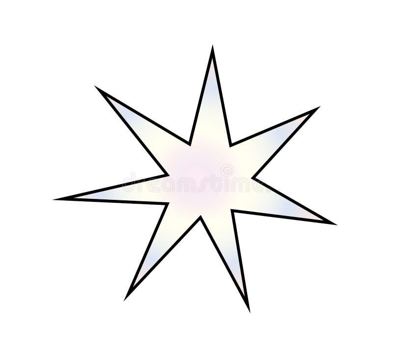 Яркая звезда рождества с черным планом иллюстрация штока