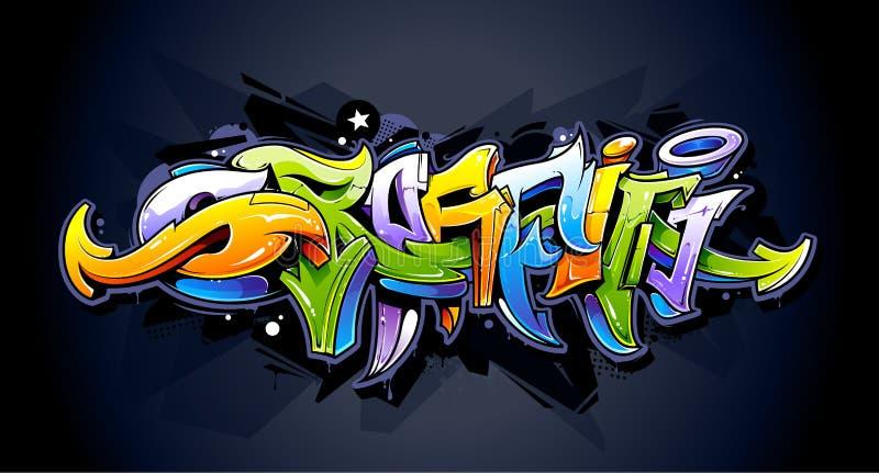 Яркая литерность граффити иллюстрация вектора