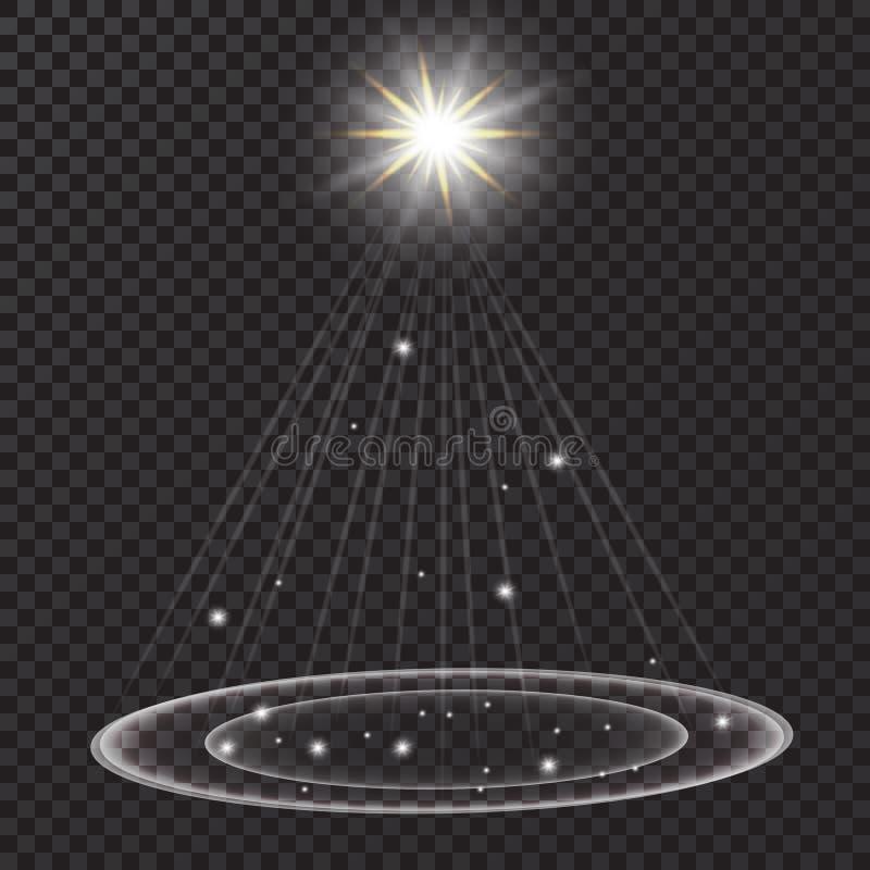 Яркая комета с падая звезда Световой эффект зарева также вектор иллюстрации притяжки corel иллюстрация штока