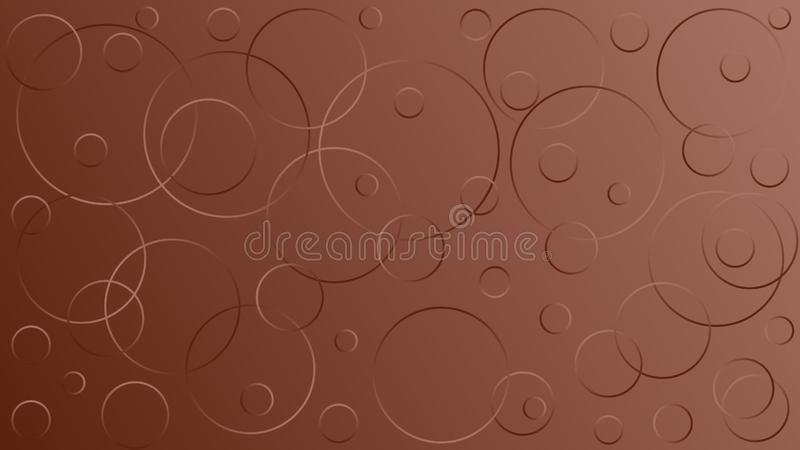 Яркая коричневая иллюстрация вектора, которая состоит из кругов различных размеров иллюстрация штока