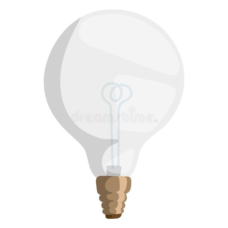 Яркая оборудования электричества объекта шарика чертежа дизайна лампы иллюстрации вектора лампы шаржа изолированная светом электр иллюстрация штока