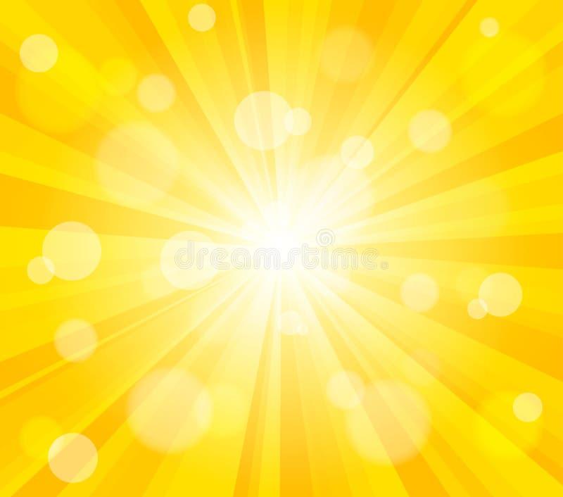 Яркая предпосылка влияния солнца вектора иллюстрация вектора