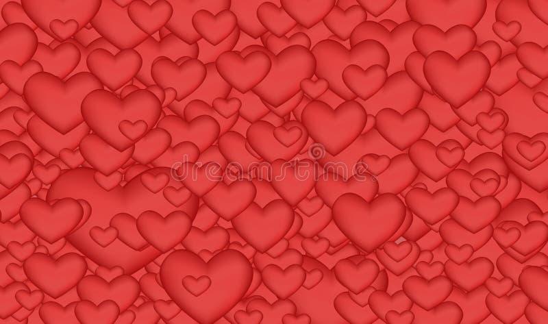 Яркая предпосылка много красных сердец стоковые изображения