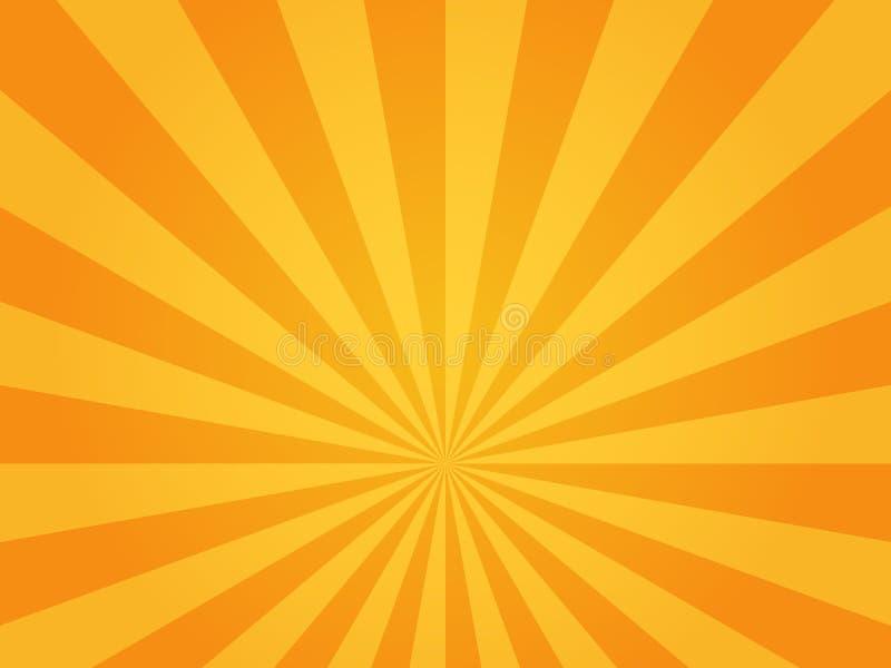 Яркая предпосылка солнечных лучей иллюстрация вектора