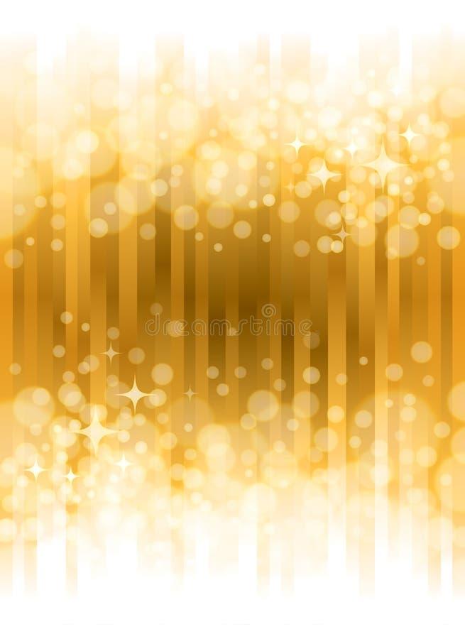 Яркая предпосылка золота иллюстрация штока