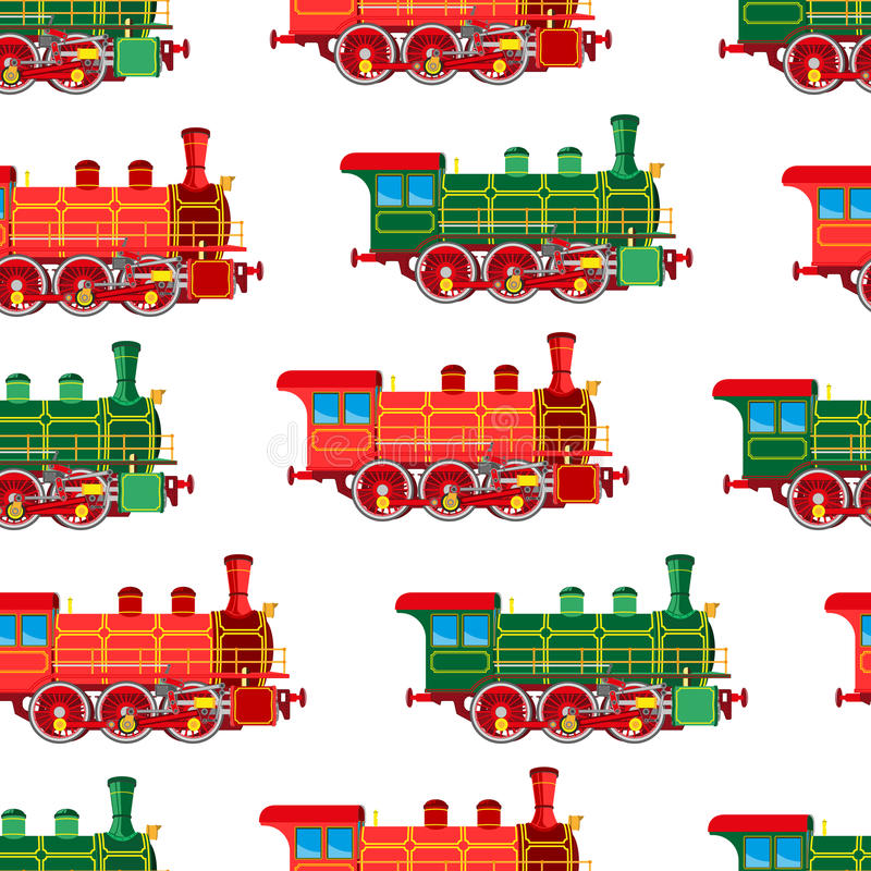 Яркая предпосылка локомотива пара шаржа безшовная бесплатная иллюстрация