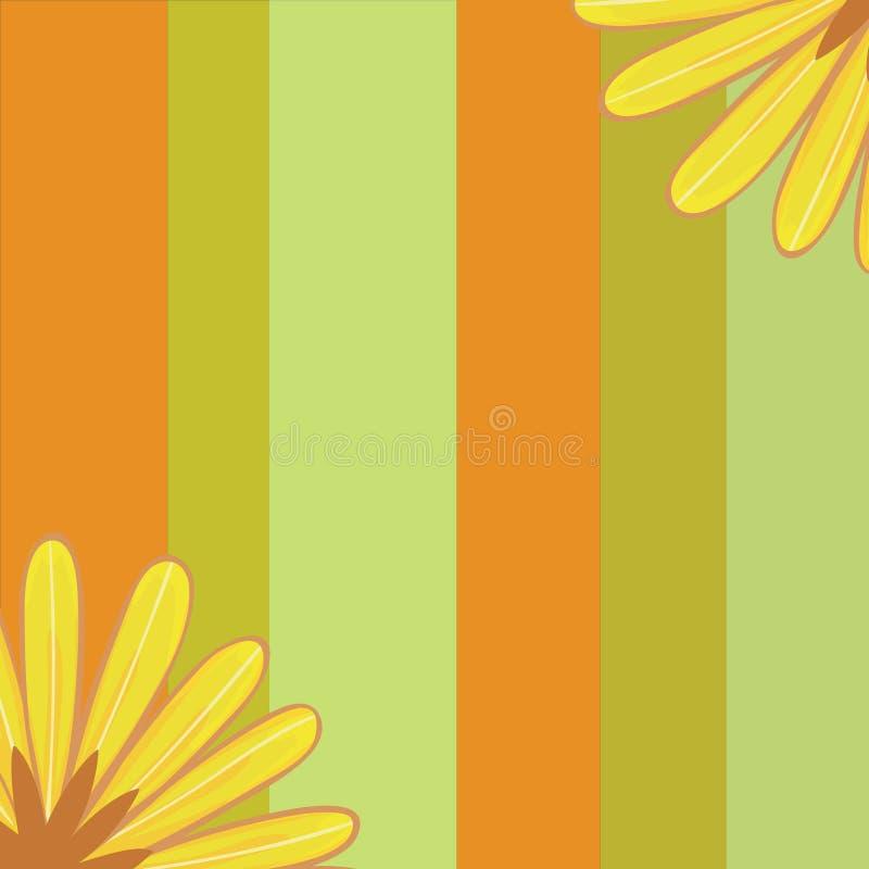 Яркая сделанная по образцу предпосылка украшенная с цветками стоковая фотография rf
