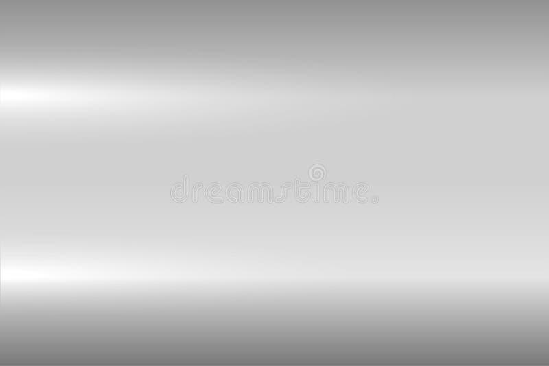 Яркая серая металлическая текстура Сияющая отполированная поверхность металла Предпосылка вектора иллюстрация вектора