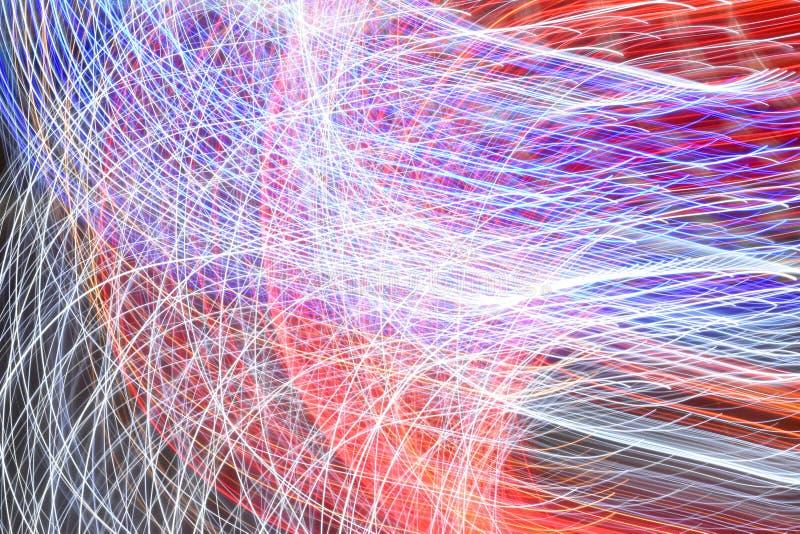 Яркая сияющая картина сети Технология, будущее, взаимодействие, концепция сети бесплатная иллюстрация