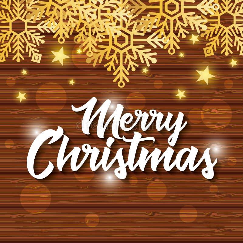 Яркая с Рождеством Христовым рождественская открытка иллюстрация вектора