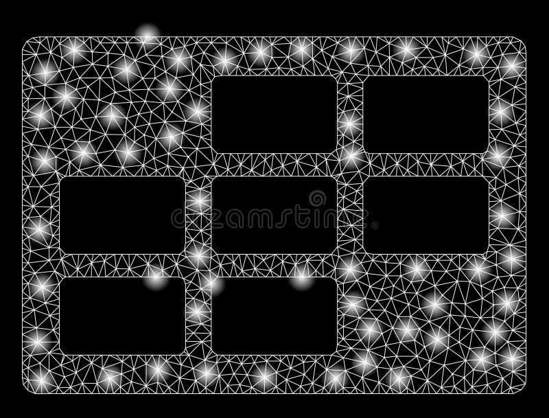 Яркая таблица календаря ячеистой сети с внезапными пятнами бесплатная иллюстрация