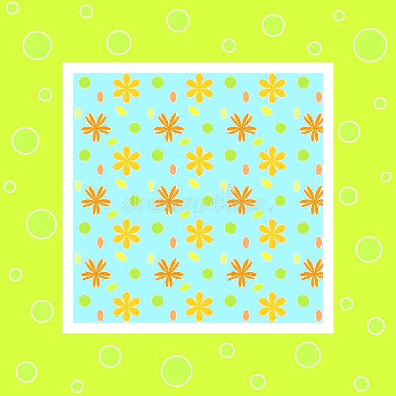 яркая флористическая рамка иллюстрация вектора