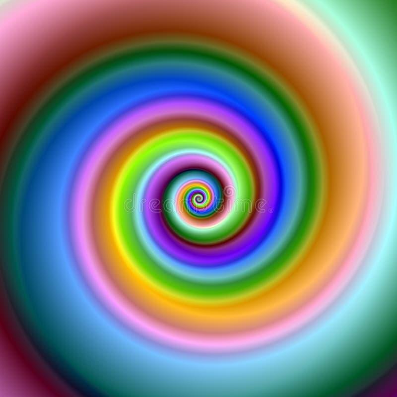 яркая цветастая свирль фрактали иллюстрация вектора