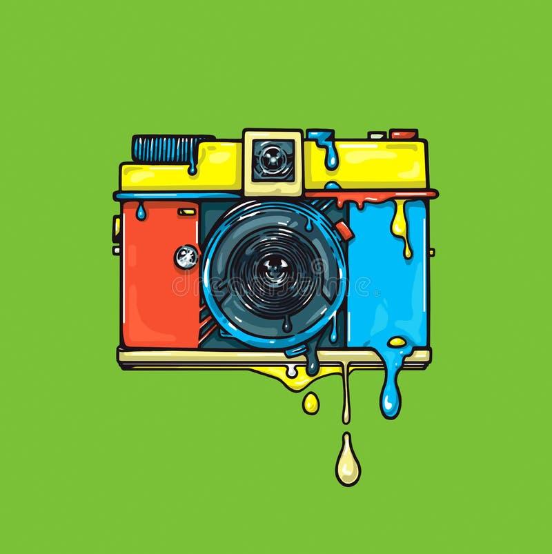 Яркая цветная камера asama Иллюстрация графика olor ¡ Ð иллюстрация штока