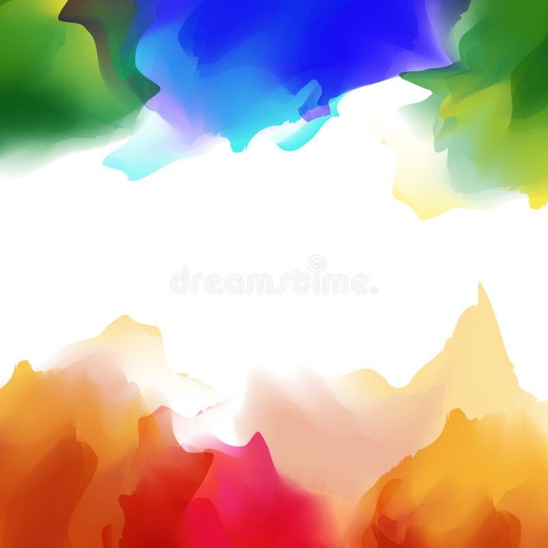 Яркая multicolor предпосылка акварели иллюстрация вектора