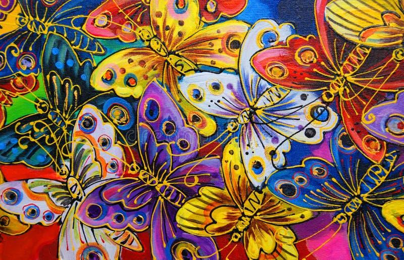 яркие бабочки иллюстрация вектора