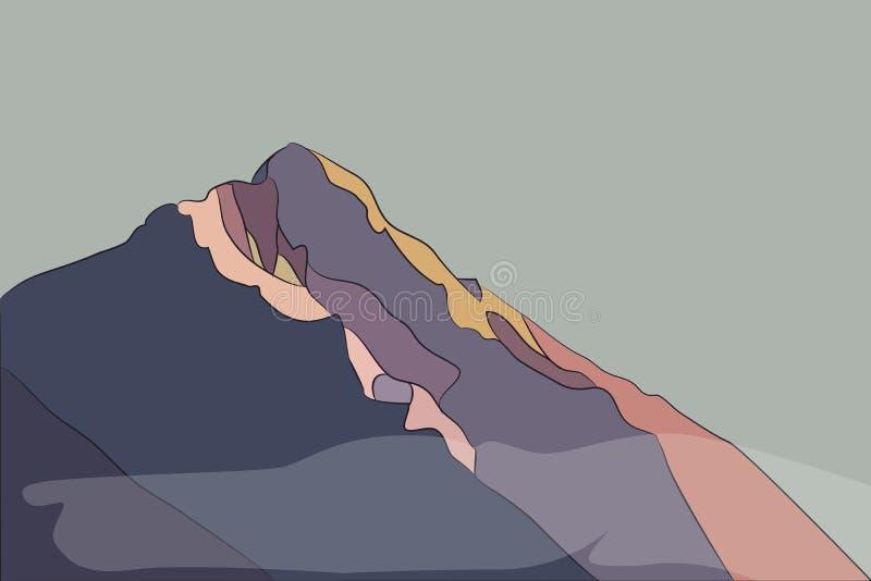 Яркие горы вектора бесплатная иллюстрация