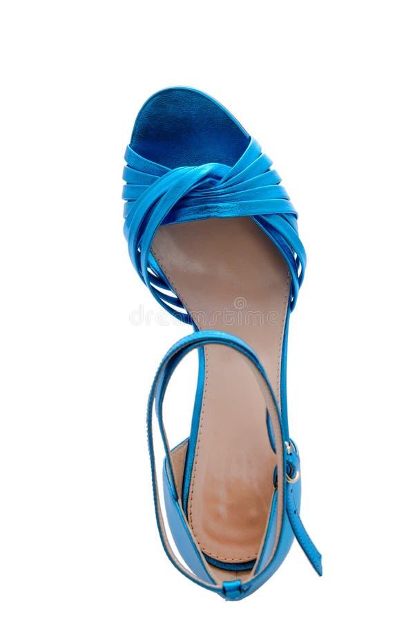 Яркие голубые сандалии стоковое изображение