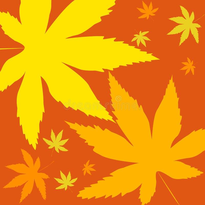 яркие листья иллюстрация вектора