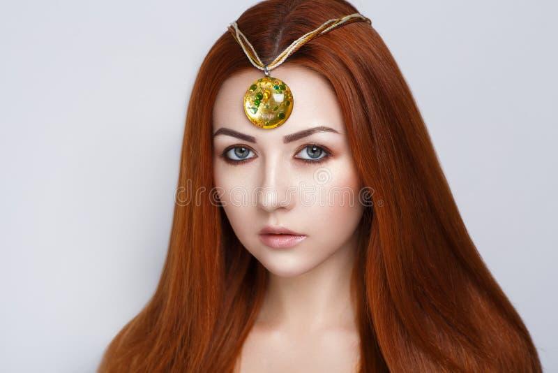 Яркие оранжевые волосы стоковое фото