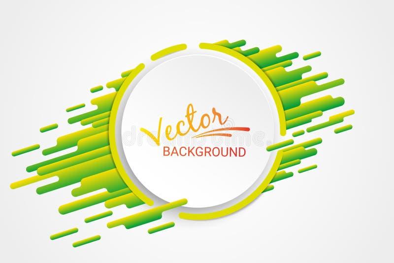 Яркие покрашенные формы на белой абстрактной предпосылке Живой градиент Желтый и зеленый цвет иллюстрация вектора