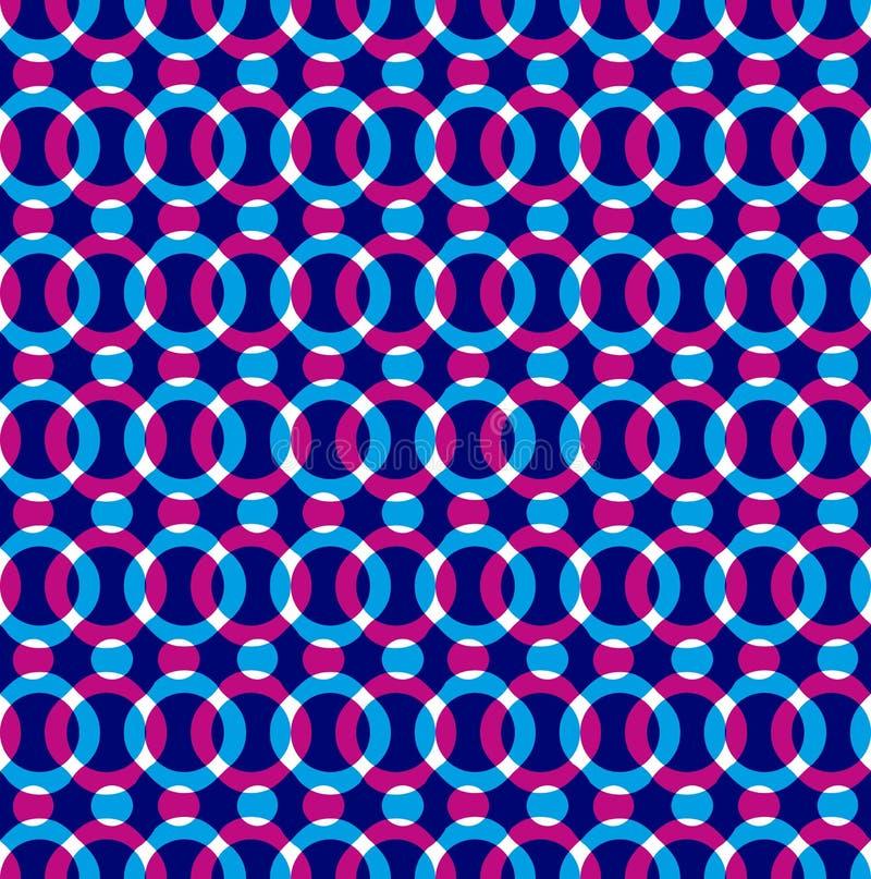 Яркие поставленные точки безшовные круги картины, красных и голубых иллюстрация вектора