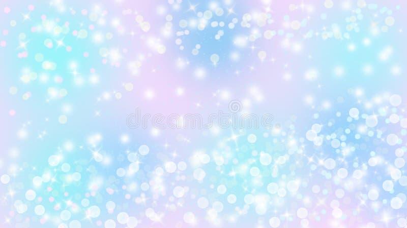 Яркие света, Bokeh и блестящее сверкнают в пастельной красочной предпосылке бесплатная иллюстрация
