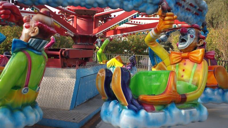 Яркие, смешные, красочные клоуны стоковое фото rf