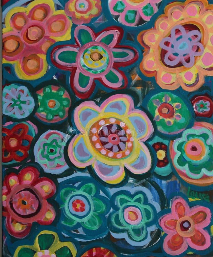 Яркие художнические картины цветка стоковые фото