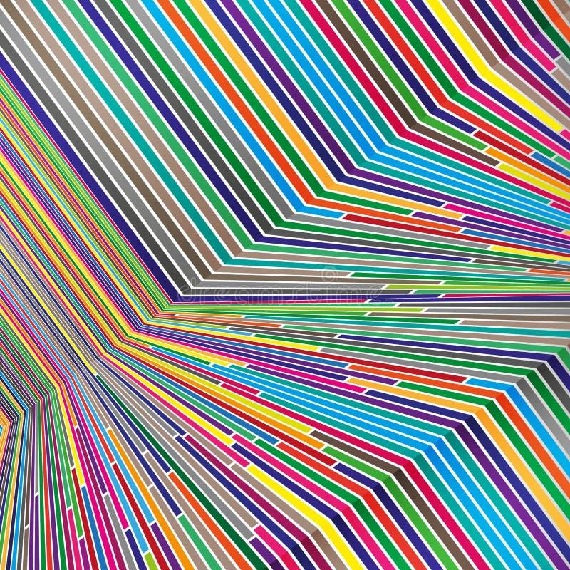 Яркие цветные барьеры, красочный дизайн при геометрические формы формируя абстрактную красивую предпосылку Совершенный фон для иллюстрация вектора