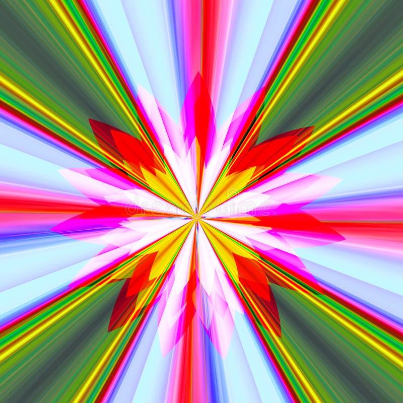Калейдоскоп ярких цветов иллюстрация вектора
