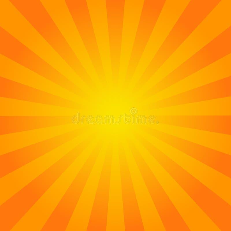 Яркий апельсин излучает предпосылку бесплатная иллюстрация