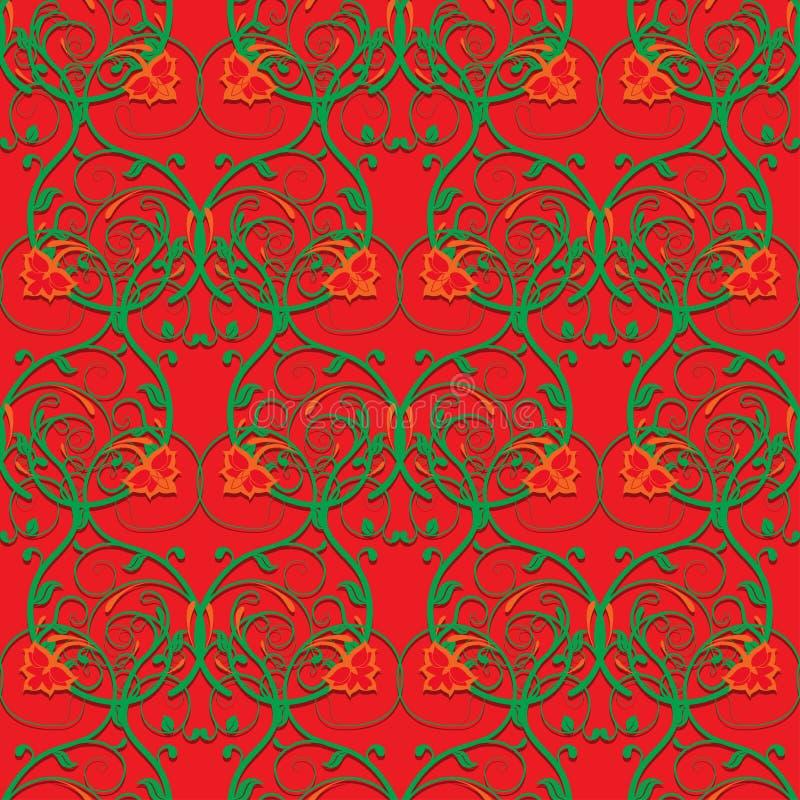 Download Яркий безшовный цветочный узор Иллюстрация вектора - иллюстрации насчитывающей цветки, линия: 40583909