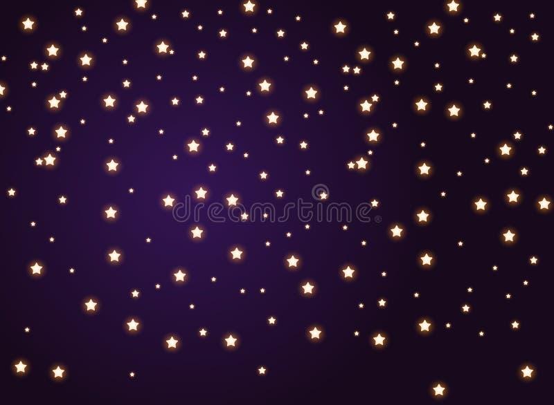 Яркий блеск сверкнает на предпосылке ночного неба r бесплатная иллюстрация