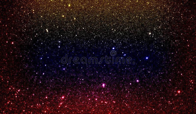 Яркий блеск текстурировал красную желтую синь и черные затеняемые обои предпосылки стоковое изображение