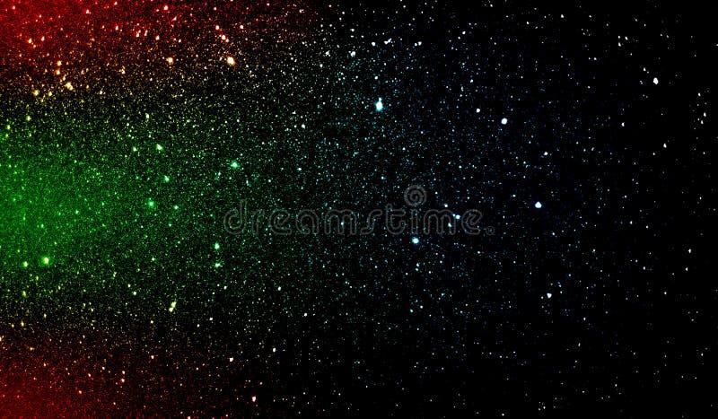 Яркий блеск текстурировал красную зеленую синь и черные затеняемые обои предпосылки стоковое изображение rf